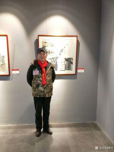 """魏杰生活-""""两江风骨""""中国画作品展于春节期间举行,我的作品参展,分享展会期间人潮涌动的场景【图4】"""