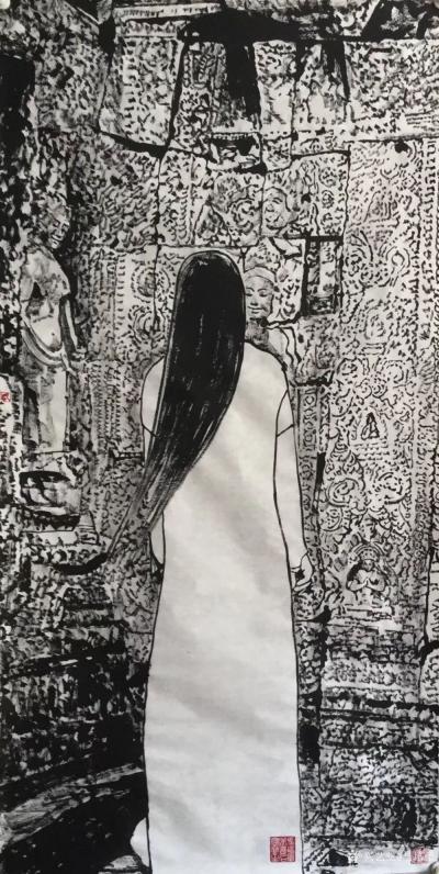 """马培童日记-""""出于古法,求新变革,志在境界,自成一家。""""马培童焦墨画感悟笔记(93)我一直钟【图2】"""