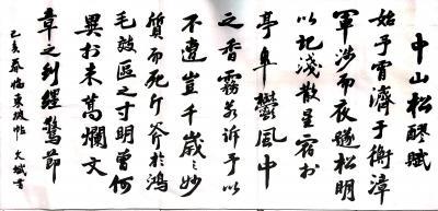 陈文斌日记-临苏东坡《中山松醪赋》【图1】