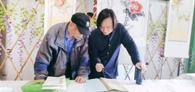 杨牧青日记-纪念五四青年节100周年书画交流会上,一位老先生临摹写兼创性的书法作品,让我看看【图2】