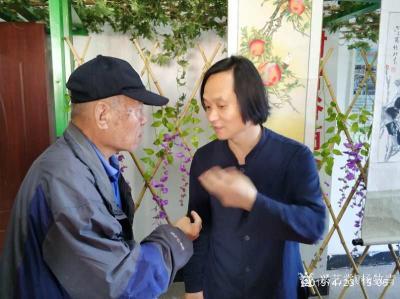 杨牧青日记-纪念五四青年节100周年书画交流会上,一位老先生临摹写兼创性的书法作品,让我看看【图3】