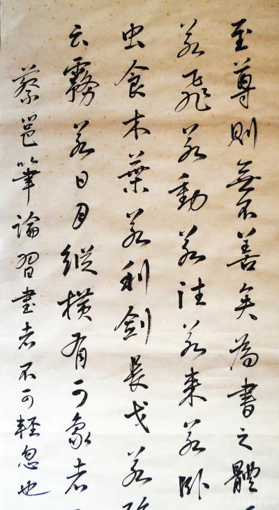 于坤琦日记-行书四尺中堂蔡邕笔论,立式悬肘书【图2】