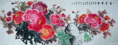 刘慧敏日记-《花开富贵》《锦上添花》《富贵满堂》,国画花鸟画作品集锦,尺寸小六尺横幅68x1【图2】