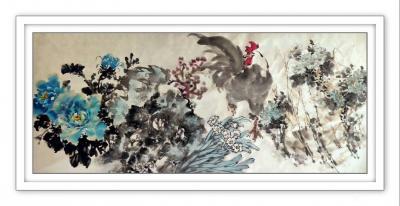陈子华日记-《沁园春》题牡丹图,李克敏文 影月无痕,凝霞有信,锦萼云裳。 看红娇粉淡,紫【图1】