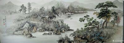 陈刚日记-油彩山水画作品《溪山高隐图》,第二幅《天际识归舟》尺寸1092✘640cm;第三【图3】