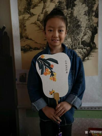 李高收藏-工作室少儿课堂今天体验团扇国画创作,小朋友们最近写的画的进步都挺大!值得欣慰。特【图3】
