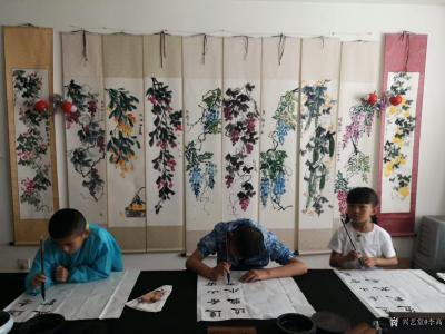 李高收藏-工作室少儿课堂今天体验团扇国画创作,小朋友们最近写的画的进步都挺大!值得欣慰。特【图6】