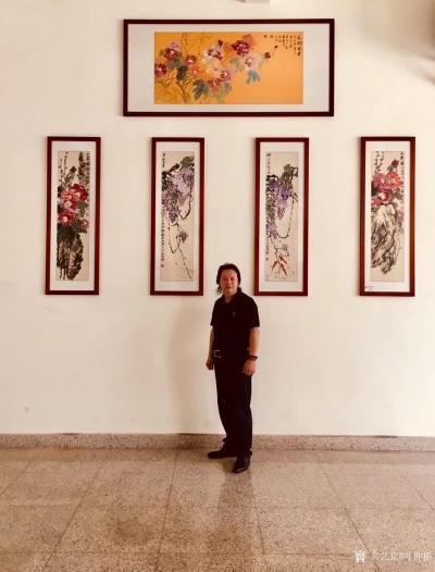 叶仲桥收藏-国画花鸟画《紫气东来》《锦上添花》《大贵图》《大昌图》;   我家一楼大厅,装【图1】