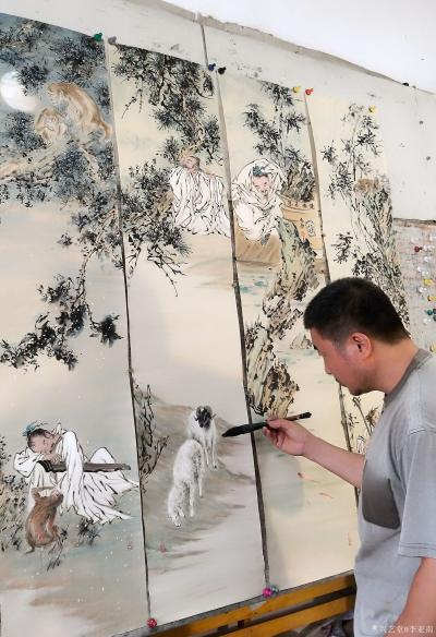 李亚南日记-人物四条屏【图9】