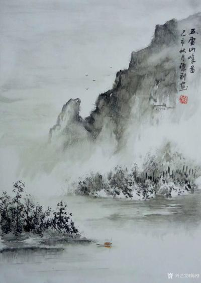 陈刚日记-采风之楠溪江陡门村,并完成《楠溪江》画作两幅;   在永嘉通刘存浩先生的引导与【图3】