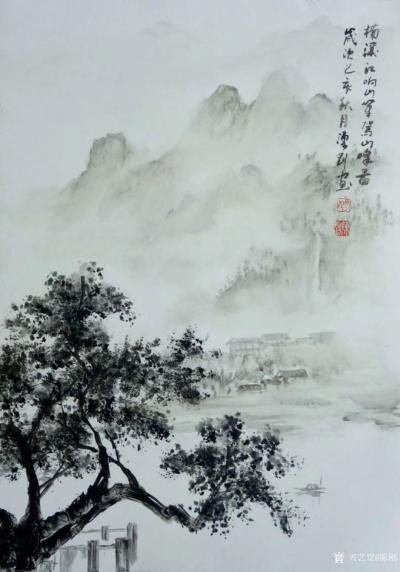 陈刚日记-采风之楠溪江陡门村,并完成《楠溪江》画作两幅;   在永嘉通刘存浩先生的引导与【图4】
