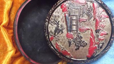 荆古轩收藏-我收藏的清代浅雕老漆盒和杂件。收藏让我快乐,收藏让我感悟历史的丰富多彩和时代的年【图2】