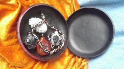 荆古轩收藏-我收藏的清代浅雕老漆盒和杂件。收藏让我快乐,收藏让我感悟历史的丰富多彩和时代的年【图9】