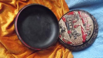 荆古轩收藏-我收藏的清代浅雕老漆盒和杂件。收藏让我快乐,收藏让我感悟历史的丰富多彩和时代的年【图10】