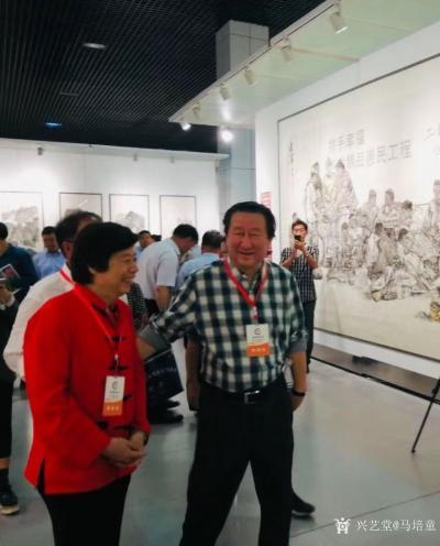 马培童收藏-香港画院院长马培童、陪同中国美术家协会副主席掦晓阳、参加9月29日上午10点青州【图2】