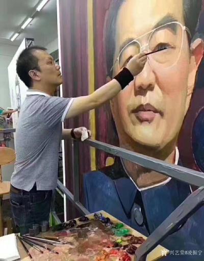 凌振宁收藏-美术从业者的荣耀,建国70周年国庆大典上的画像怎么来的?   热爱祖国,热爱生【图2】