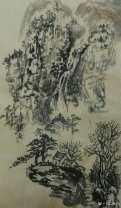 荆古轩日记-午间毛边纸水墨写意小品【图1】