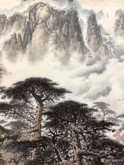 罗树辉日记-应订,重画国画山水画作品《云山起舞树生辉》,作品尺寸<span style=