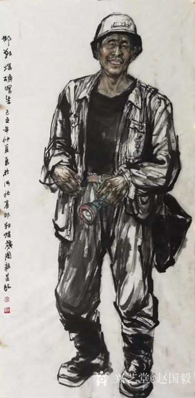 赵国毅收藏-朴厚无华,追求大美----赵国毅人物画之我见;  文/杜滋龄   去年,我在【图2】