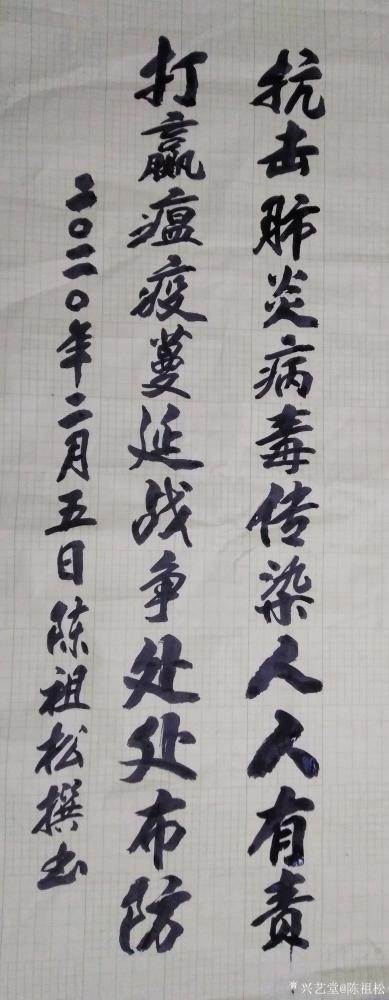 陈祖松日记-抗击肺炎病毒传染人人有责, 打赢瘟疫蔓延战争处处布防。【图1】