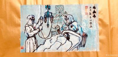 叶仲桥日记-漫画《战病毒》,用自己手中的画笔,大力宣传医护人员的革命大无畏的精神,宣传抗击病【图3】