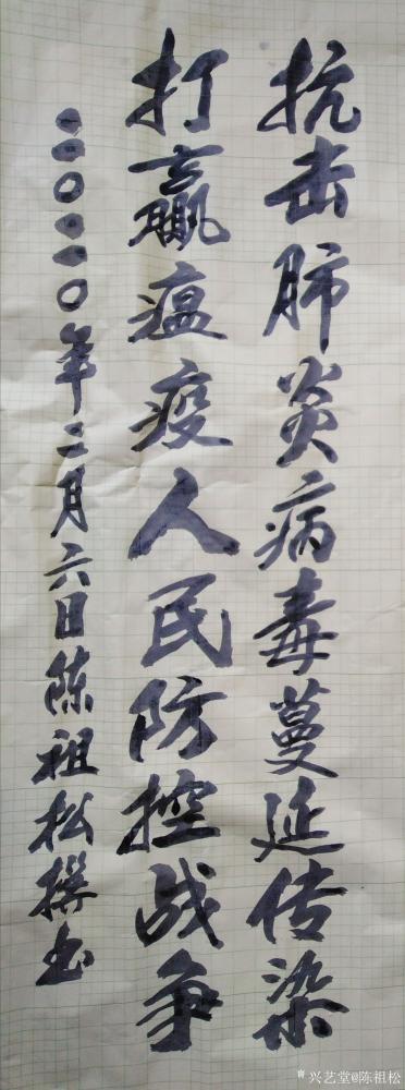 陈祖松日记-抗击肺炎病毒蔓延传染, 打赢瘟疫人民防控战争。【图1】