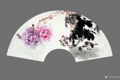 李伟强日记-敬献英雄,绘制玫瑰扇面九帧,聊表对神州大地,为拯救众生灵,大爱无痕的最可爱的人—【图1】