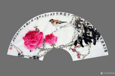 李伟强日记-敬献英雄,绘制玫瑰扇面九帧,聊表对神州大地,为拯救众生灵,大爱无痕的最可爱的人—【图4】