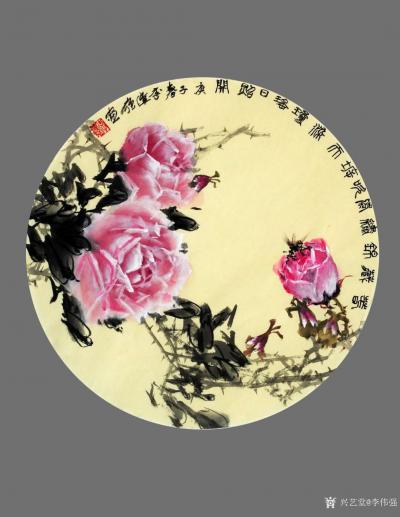 李伟强日记-敬献英雄,绘制玫瑰扇面九帧,聊表对神州大地,为拯救众生灵,大爱无痕的最可爱的人—【图6】