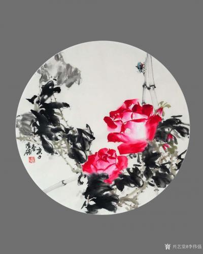李伟强日记-敬献英雄,绘制玫瑰扇面九帧,聊表对神州大地,为拯救众生灵,大爱无痕的最可爱的人—【图7】