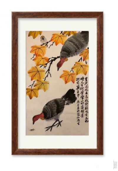 石广生日记-国画花鸟画《岂只凤凰占高枝》   深山避疫,多见山鸡,时人称吐火鸡。因此鸡据闻【图2】