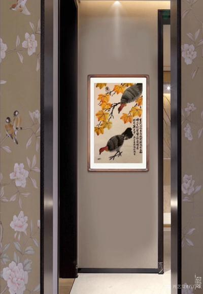 石广生日记-国画花鸟画《岂只凤凰占高枝》   深山避疫,多见山鸡,时人称吐火鸡。因此鸡据闻【图4】