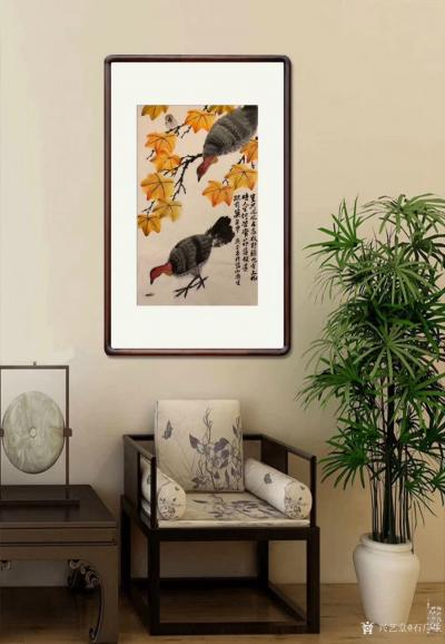 石广生日记-国画花鸟画《岂只凤凰占高枝》   深山避疫,多见山鸡,时人称吐火鸡。因此鸡据闻【图5】
