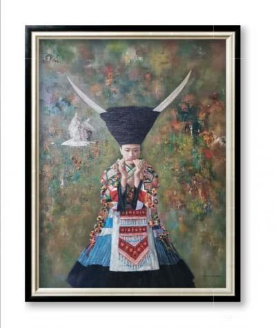 杨洪顺日记-油画人物画《孤鸿》,作者杨洪顺,附人物原型合影;  创作感悟:一幅好作品的完美【图2】