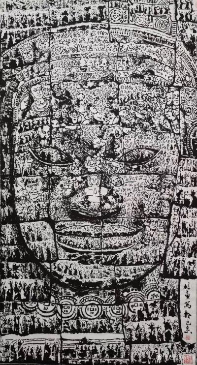 """马培童日记-""""焦墨画(刻石皴)刻中求变""""童心写历(26)   焦墨画,要想独树一帜。就必须【图1】"""