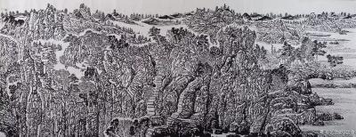 """马培童日记-""""焦墨,灵魂的修炼""""童心写历(28)   焦墨,是中国最古老的传承绘画技法,黑【图1】"""
