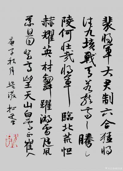 陈培泼日记-学书系列:录《裴将军诗》,《望江南·西方好》; 《裴将军诗》全文内容: 裴将【图1】