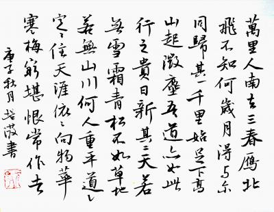 陈培泼日记-学书系列:录《裴将军诗》,《望江南·西方好》; 《裴将军诗》全文内容: 裴将【图4】