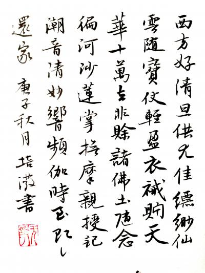 陈培泼日记-学书系列:录《裴将军诗》,《望江南·西方好》; 《裴将军诗》全文内容: 裴将【图5】
