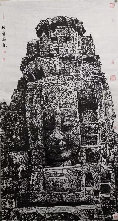 马培童日记-焦墨刻石皴法:   焦墨艺术,一定要给观众精神上的享受,和精神上的满足。因此我【图2】