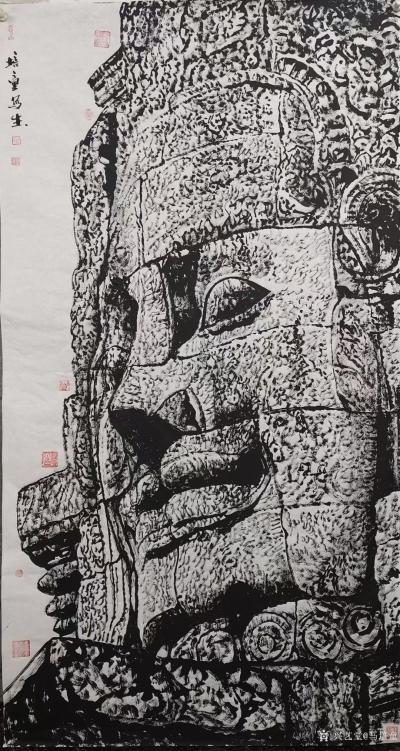 马培童日记-焦墨刻石皴法:   焦墨艺术,一定要给观众精神上的享受,和精神上的满足。因此我【图3】