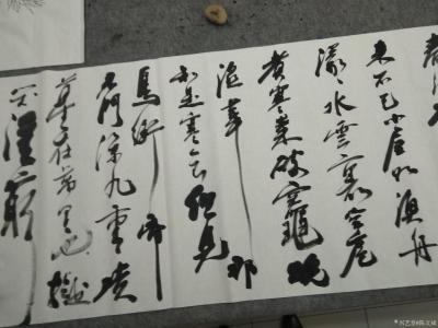 陈文斌日记-现场行书书写苏东坡《黄州寒食诗一首》! 自我来黄州,已过三寒食。年年欲惜春,春【图1】
