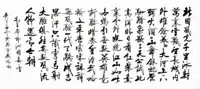 刘胜利日记-行书书法作品毛主席诗词《沁园春雪》;诗文: 北国风光,千里冰封,万里雪飘。 【图1】