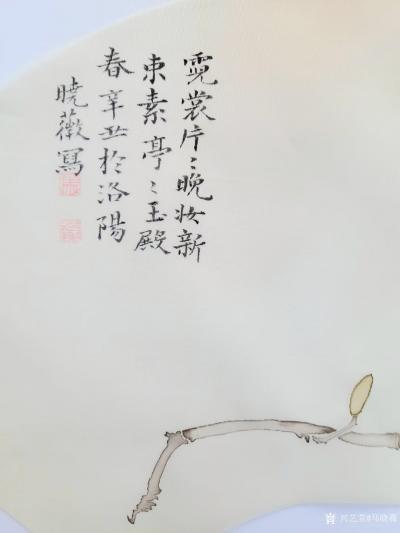 """马晓薇日记-花卉写生作品《玉兰花》,国画花鸟画,辛丑年马晓薇画於洛阳。 """"霓裳片片晚妆新,【图3】"""