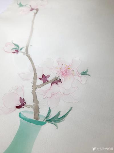 马晓薇日记-花卉写生作品《桃花净瓶》,辛丑年春月马晓薇画於洛阳。 去年今日此门中,人面桃花【图2】