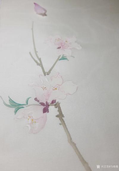 马晓薇日记-花卉写生作品《桃花净瓶》,辛丑年春月马晓薇画於洛阳。 去年今日此门中,人面桃花【图3】