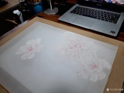 马晓薇日记-花卉写生工笔画牡丹十二品——赵粉,网课示范作品。【图1】