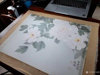 马晓薇日记-花卉写生工笔画牡丹十二品——赵粉,网课示范作品。【图2】