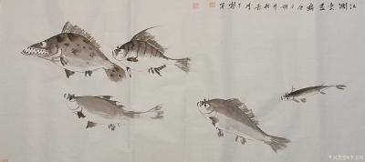 李玉凤日记-国画鱼虾作品《一夜新雨池水清》《鱼乐图》,辛丑年春月李玉凤画并题; 《一夜新雨【图5】