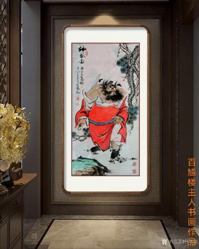 何学忠日记-《观何学忠钟馗画有感》   何学忠,生于凉州,长于凉州,号百馗楼主人、墨竹堂主【图2】